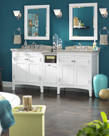 Bathroom paint inspiration from Lowes
