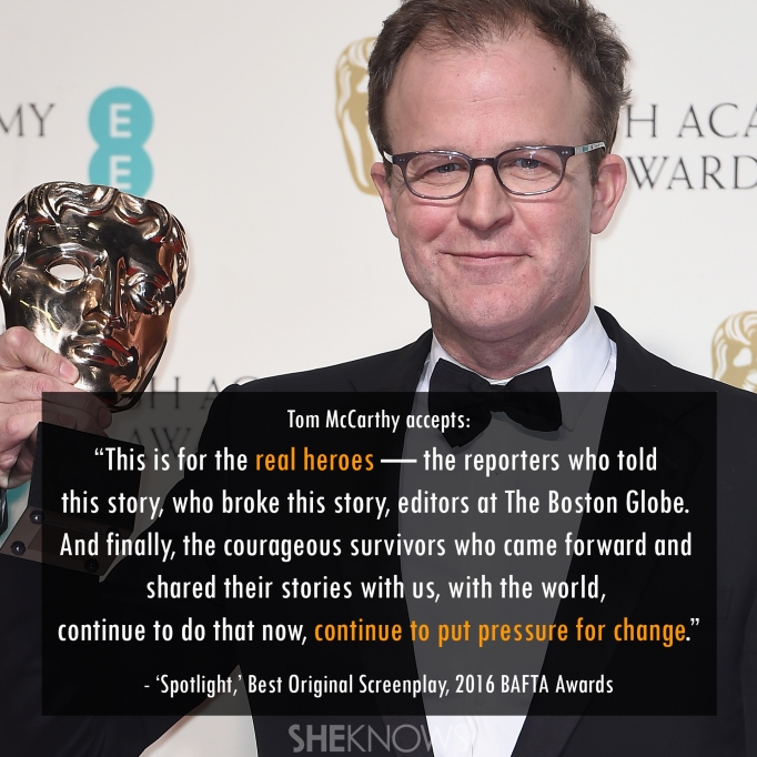 Spotlight Tom McCarthy 2016 BAFTA