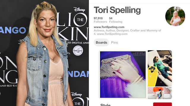 Celebs on Pinterest: Tori Spelling