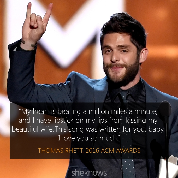 Thomas Rhett 2016 ACM Awards acceptance speech