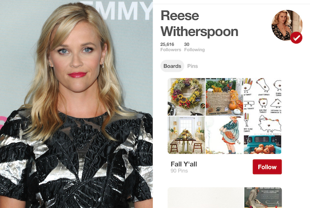 Celebs on Pinterest: Reese Witherspoon