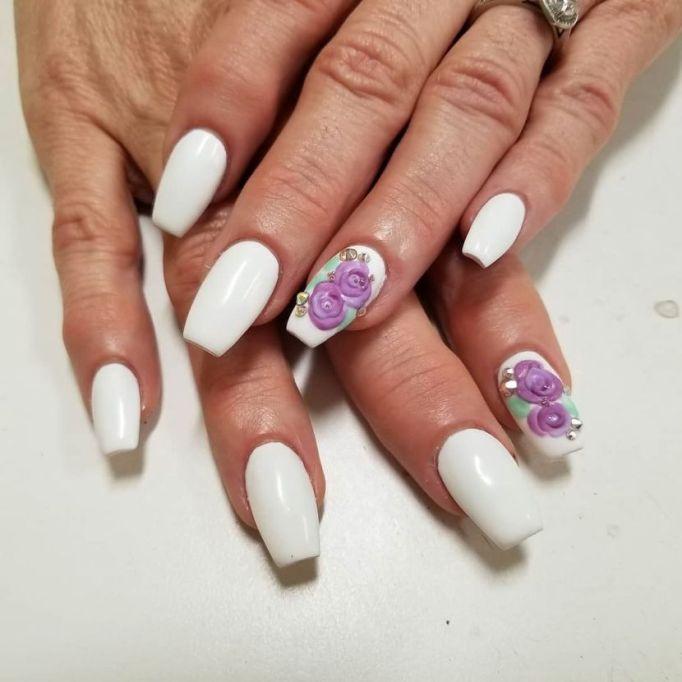 3-D Flowers Nail Art