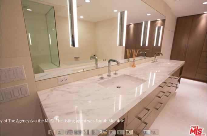 Kris Jenner condo master bath