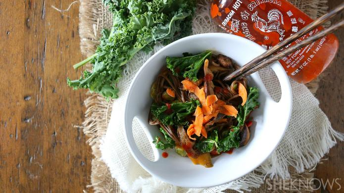 20-Minute soba noodles with veggies and