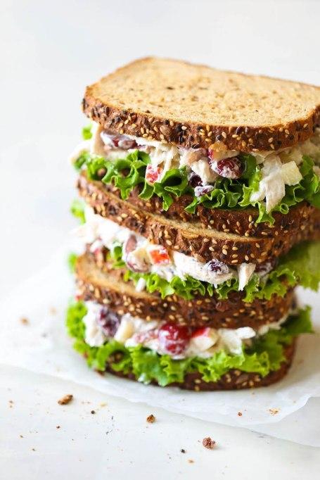 Sandwiches and Wraps for a Healthy Lunch | Greek Yogurt Chicken Salad Sandwich