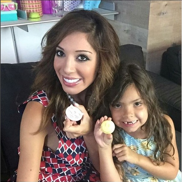 Teen Mom's Farrah Abraham and daughter Sophia showing off the soap from Beauty Kitchen Junkie