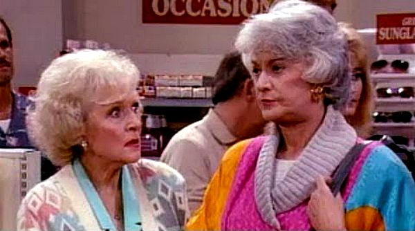 Rose and Dorothy in Golden Girls