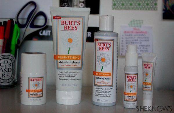 Brightening up with Burt's Bees
