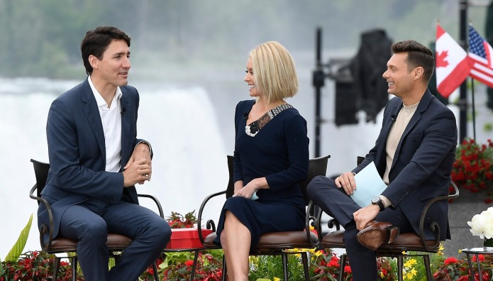 Obviously Kelly Ripa & Justin Trudeau