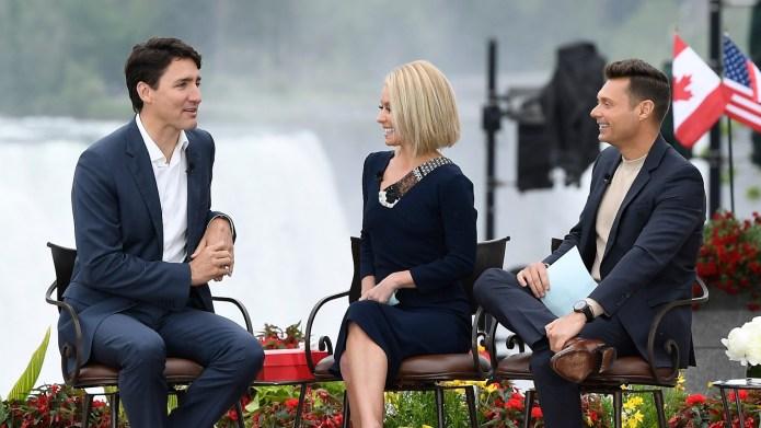 Obviously Kelly Ripa & Justin Trudeau