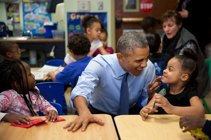 Obama with a little girl