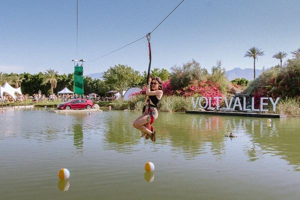 Lucy Hale at Chevy Volt, Coachella 2013