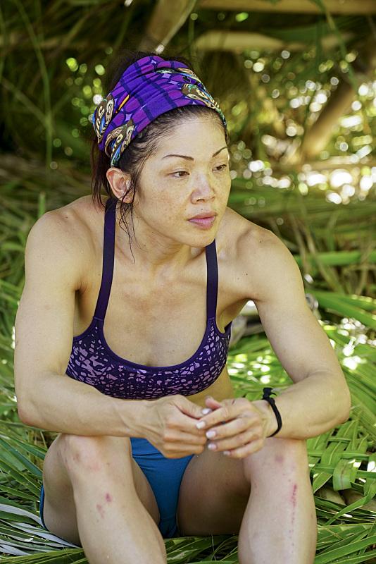 Lucy Huang at Gen-X camp on Survivor: Millennials Vs. Gen-X