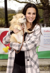 Lucy Watson and her dog