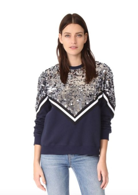 Non-Cheesy Ways to Wear Sequins: MSGM sweatershirt | Fall Fashion Trends 2017