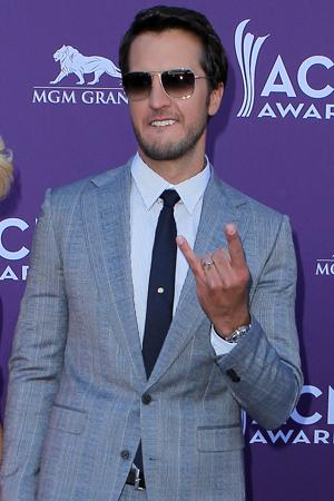 Luke Bryan in a suit