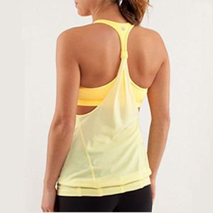 lulumon practice freely yellow tank top