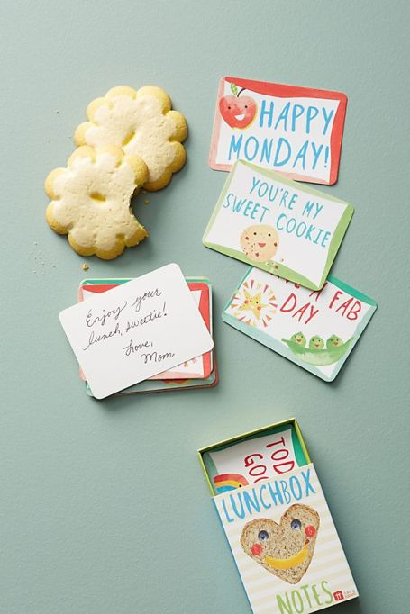 Lunchbox notes from Anthropologie