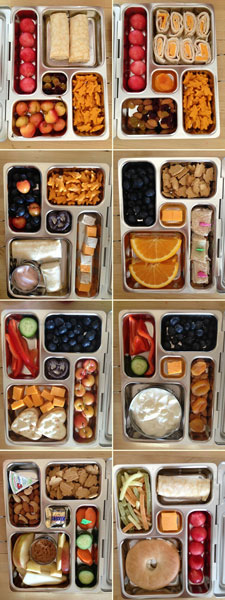 Pack a bento style lunch box