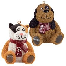 Luv-a-pet Christmas ornaments