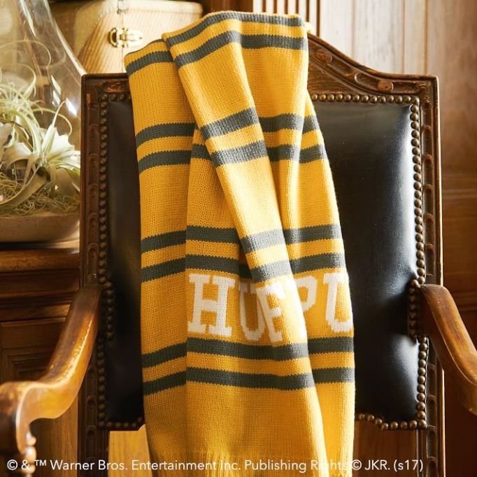 PB Teen Harry Potter Collection: Cozy up with a throw that shows your house pride