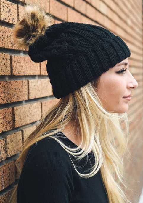 Must-Have Fall Hats: Pom Pom Sweater Hat | Fall Fashion Trends