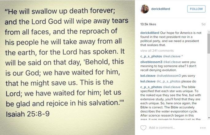 Derick Dillard Instagram