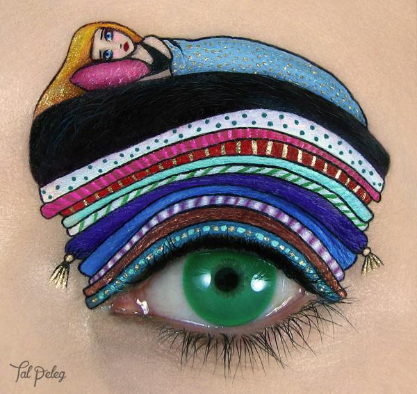 Makeup artist turns her eyelids into