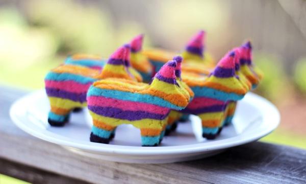 Piñata cookies tutorial