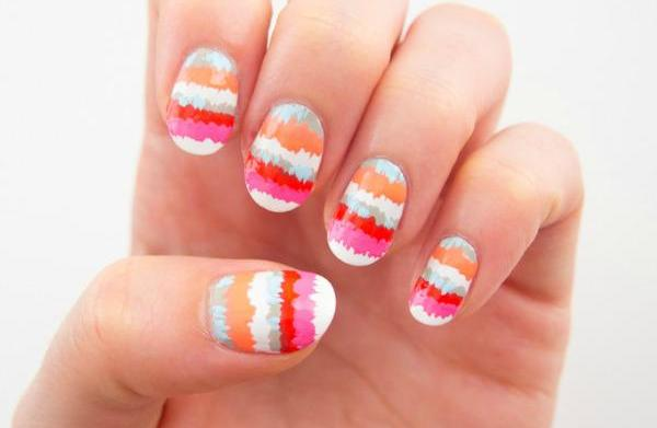 Photo tutorial: Striped pop art nail