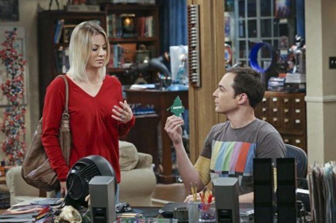 Kaley Cuoco and Jim Parsons in 'The Big Bang Theory'