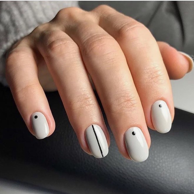 Cool Nail Designs For Short Tips and Biters: Minimalist Mani | Nail Care