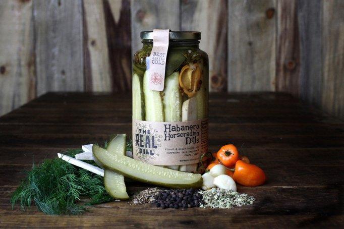 Habanero horseradish dill pickles