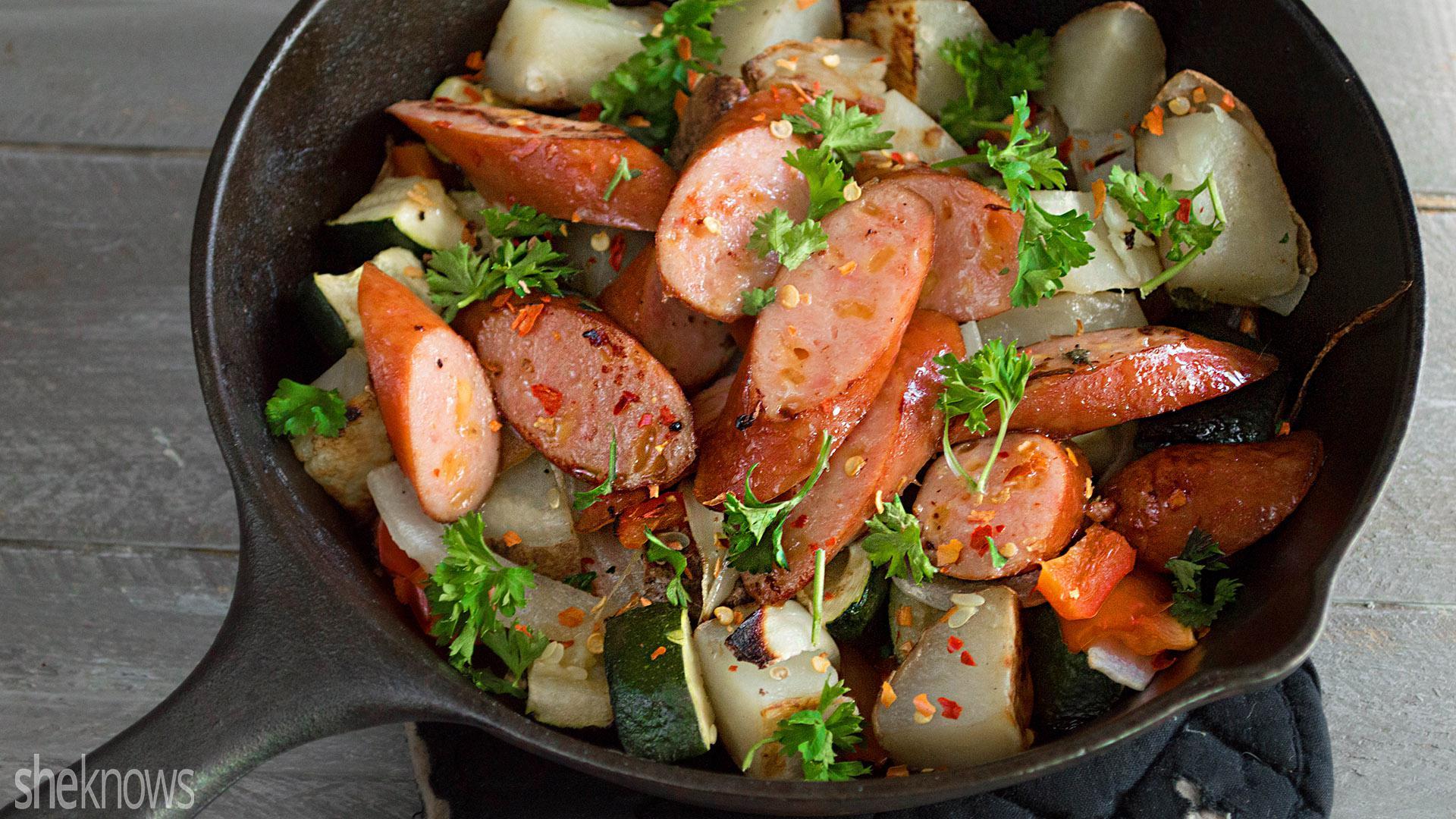 one-pot wonder: bratwurst-veggie skillet is an easy dinner for busy