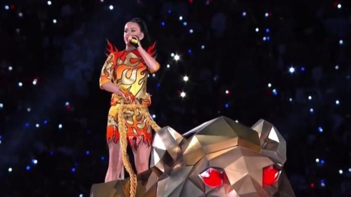 Katy Perry's outfits dominated the Super