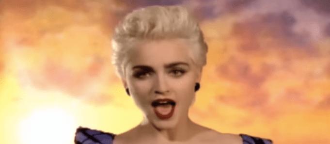 """Madonna in """"True Blue"""" music video"""