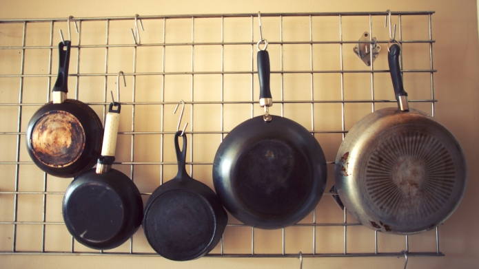 Kitchen Pan Rack