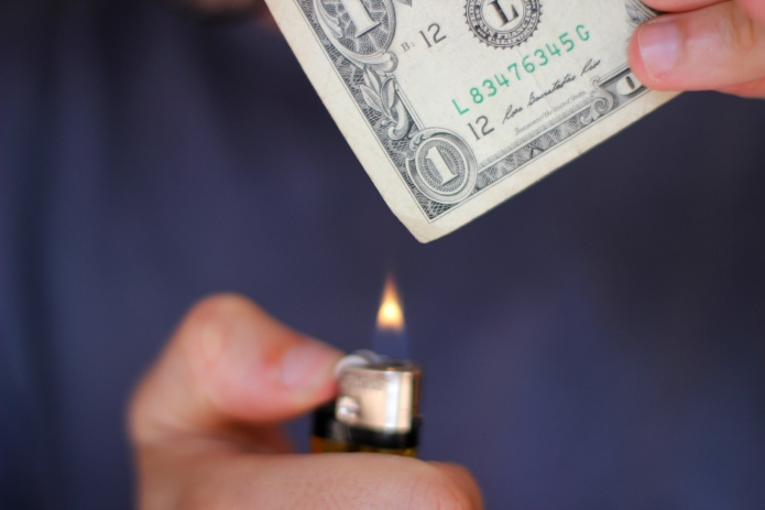 Why this man burned money to