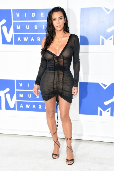 Kim Kardashian's Most Naked Looks: Attending 2016 MTV Video Music Awards | Kim Kardashian Fashion
