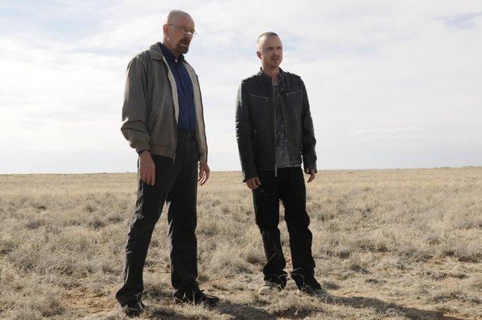 Brian Cranston and Aaron Paul in Breaking Bad