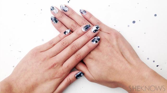 DIY nail sticker tutorial is like