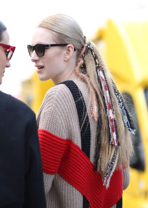Standout Ways To Style Long Hair | Accessorized Low Ponytail