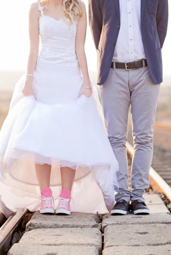 Bride wearing Converse