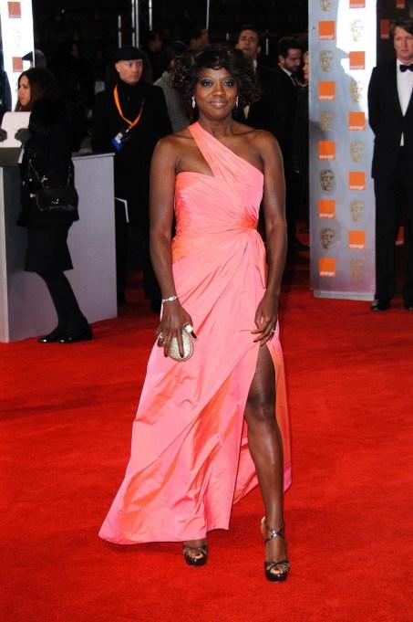 Viola Davis red carpet looks: 2012 BAFTAs