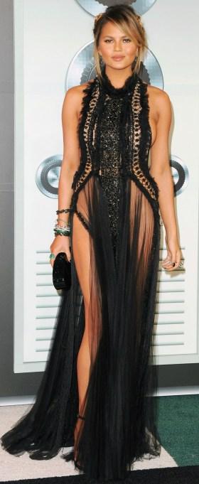 Chrissy Teigen naked dress