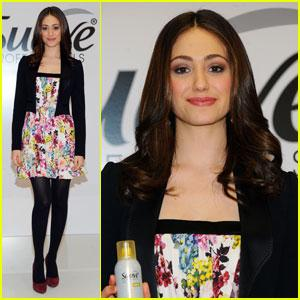 Emmy Rossum shys away from scissors
