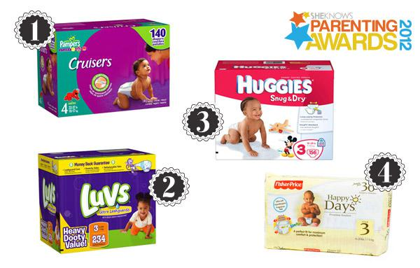 Disposable diapers for a dry and