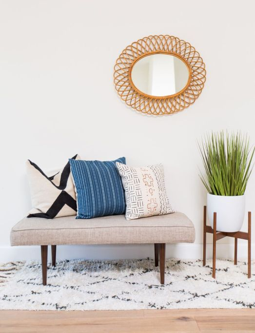 How to Decorate Small Spaces: Throw rugs are a great way to divide smaller spaces into distint areas.