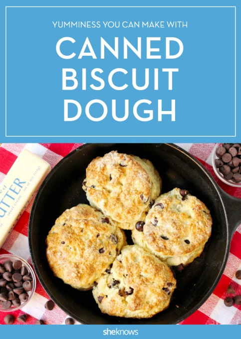 Canned biscuit dough Pinterest image