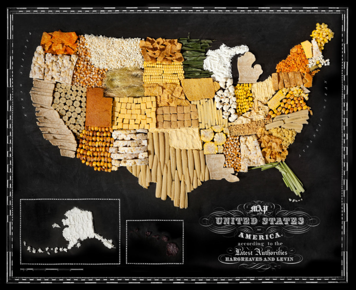 11 Incredible maps made of food